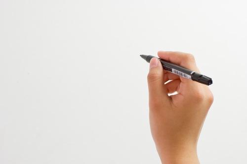 油性ペン 手