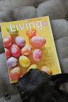 Oh good!  Here's the colorful new April issue of Martha's magazine, Living.  I'll just paw through it for some great inspiring ideas.