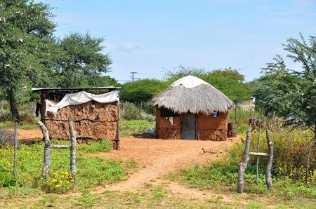 Actual San hut.