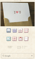 Screenshot of Lovely Drawings dodol Theme