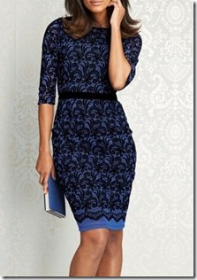 flocked lace dress NX