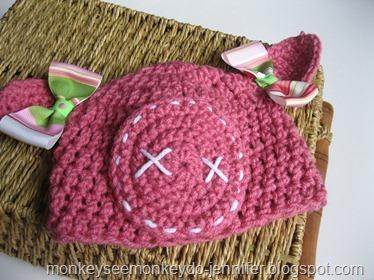 dark pink pig hat
