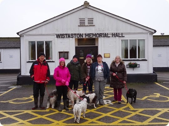 Boxing Day walk 2014 - some of the walkers and dogs