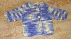 Blue white vari sweater