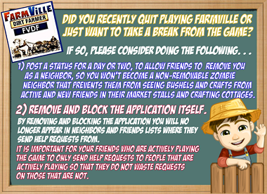 Farmville Quitting management