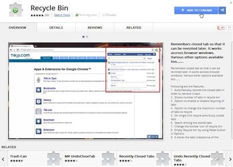 RecycleBin para Chrome
