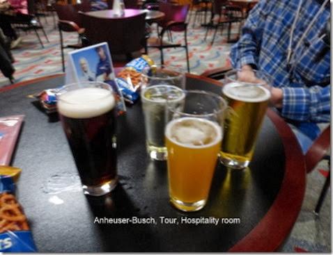 Anheuser-Busch, Tour, Hospitality room