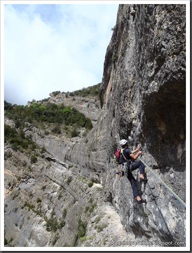 Via Gali-Molero 500m 6b  Ae (V  A1 Oblig) (Roca Regina, Terradets) (Victor) 0032