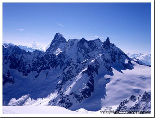 Descenso del Valle Blanco esquiando (Chamonix, Alpes) 5352