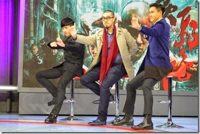 2014.11.16 Eddie Peng during Rise of the Legend - 彭于晏 黃飛鴻之英雄有夢  娛樂夢工廠 - 訪問 01