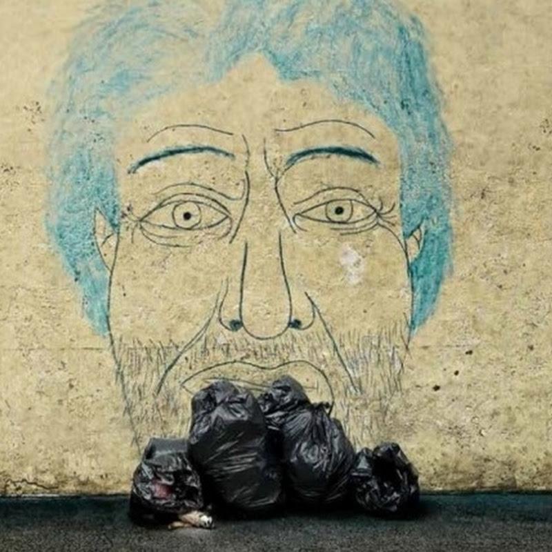 Arte urbano en NY en pro los indigentes