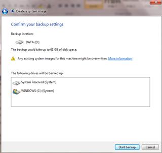 ขั้นตอนการ backup ใน windows7