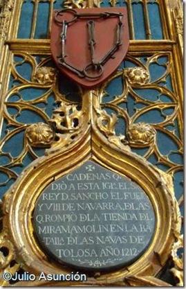 Cadenas de la batalla de Las Navas de Tolosa - Catedral de Tudela