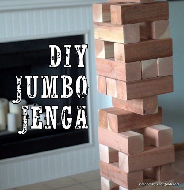 Jumbo Jenga for Backyard BBQs {Interiors by Kenz}