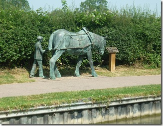 horse sculpture foxton