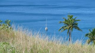 Wanderung in den Hügeln von Yalombi Bay, Waya.