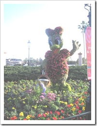 Florida vacation Epcot topiary daisy duck
