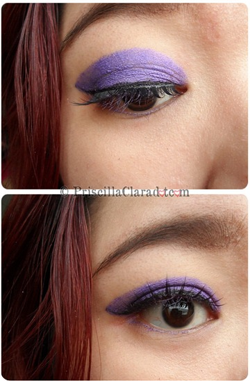 Priscilla Clara beauty blogger IBB MUC Maybelline Color Tattoo Painted Purple eye makeup FOTD 7