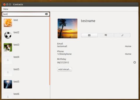 Ubuntu 12.10 - Gnome Contacts