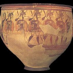 17.- Vaso de los guerreros. Micenas