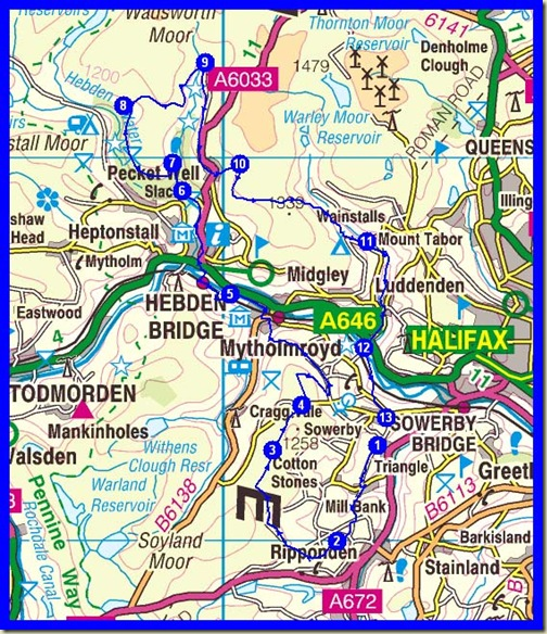 The 26 mile CMBM route