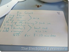Mom's Pie Crust - The Backyard Farmwife