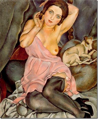 Josep de Togores i Llach -Renée y el perro -1920