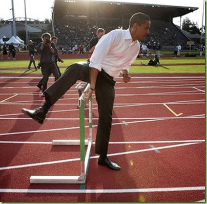 obama bo over the net