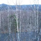 Вид на р. Юрюзань и хр. Бакты с места стоянки.