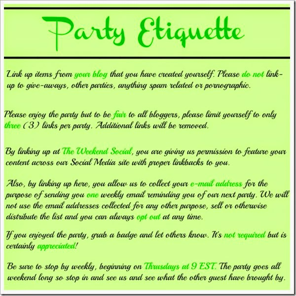 Weekend Social Party Rules
