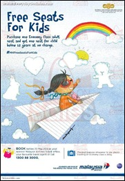 Malaysia Airlines MAS Free Seats for Kids Giveaway 2013 All Malaysia Discounts Deals Warehouse Shopping EverydayOnSales