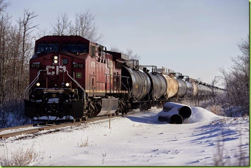 crude hauled via train