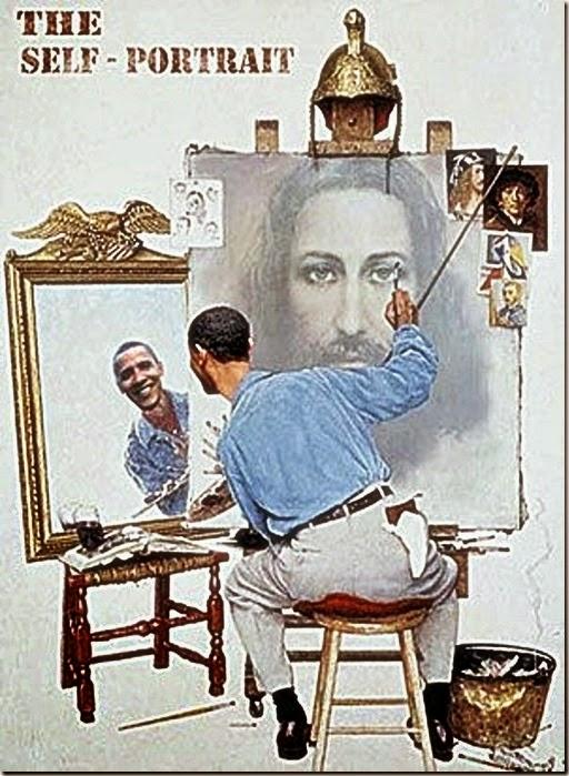 Obama Jesus Self-Portrait