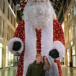 Hugo & Sterre with Santa in Berlin, Berlin, Germany