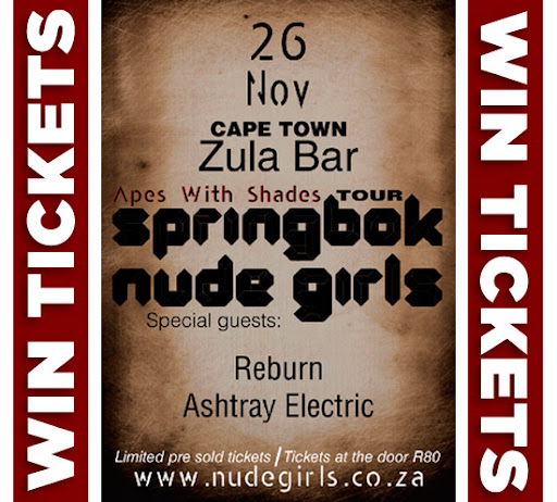 Springbok Nude Girls - Apes With Shades - Zula Bar 26 November 2011
