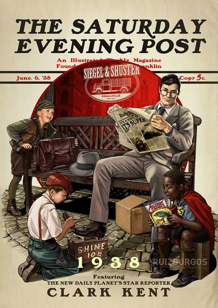 Saturday Evening Post - Clark Kent 1938 by OnlyMilo