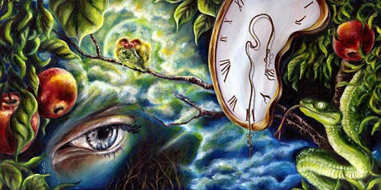 lovers surreal art
