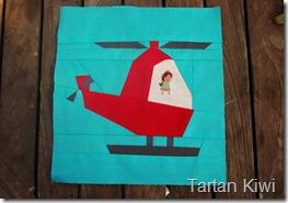 Tartan Kiwis helicopter