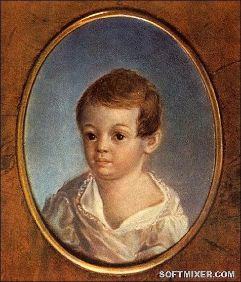 Пушкин в детстве.Неизв.автор