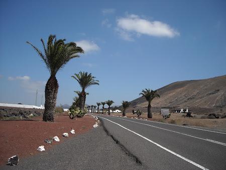 Drumurile publice din Lanzarote, partea de sud a insulei