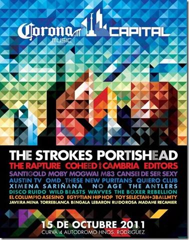 corona capital cartelera oficial 2011 strokes portishead