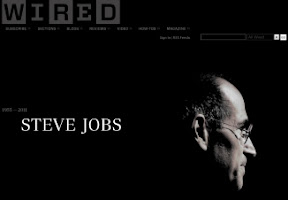 Homenagem na Wired.com à Steve Jobs