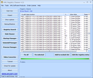 Free AML Registry Cleaner Download