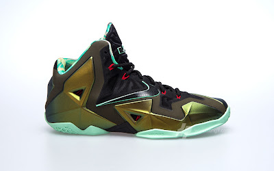 nike lebron 11 gr army slate 9 01 parachute gold Nike LeBron XI is Coming out on October 12th. New pics!
