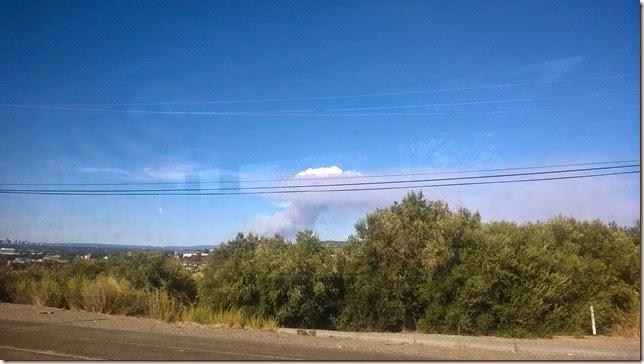 Smoke rising from bushfire