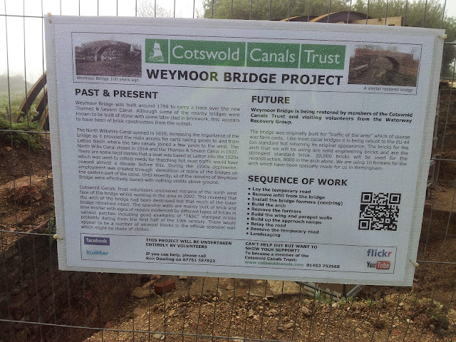 Sign showing details of the Weymoor Bridge Project