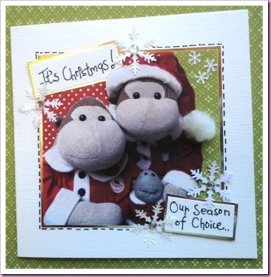 Monkey Christmas Card