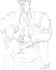 Upside-down Drawing: Man in Chair