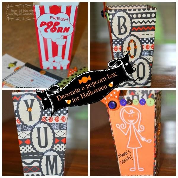 Decorate a popcorn box
