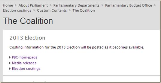 The Coalition – Parliament of Australia